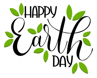 Happy Earth Day Lettering.
